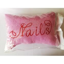Perna/suport mana roz pentru manichiura cu husa detasabila din plus