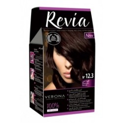 Vopsea de par Revia - nr. 12.3. Brown Coffee - 50 ml