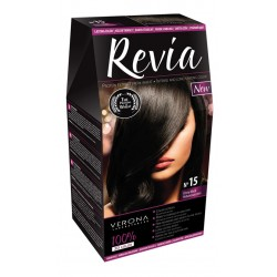Vopsea de par Revia - nr. 15. Ebony Black - 50 ml