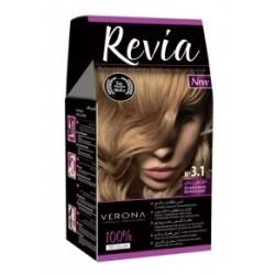 Vopsea de par Revia - nr. 3.1. Ash Golden Blond - 50 ml