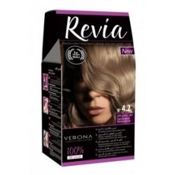 Vopsea de par Revia - nr. 4.2. Light Ash Blonde - 50 ml