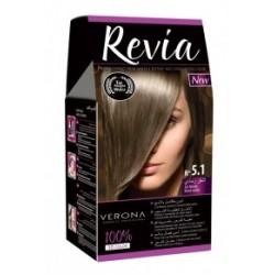 Vopsea de par Revia - nr. 5.1. Ash Blonde - 50 ml