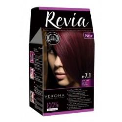 Vopsea de par Revia - nr. 7.1. Light Red - 50 ml