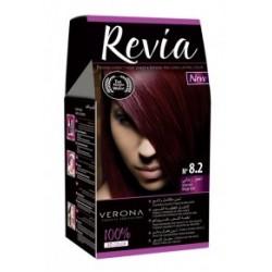 Vopsea de par Revia - nr. 8.2. Irisse Red - 50 ml